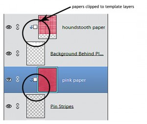 layers with color papers
