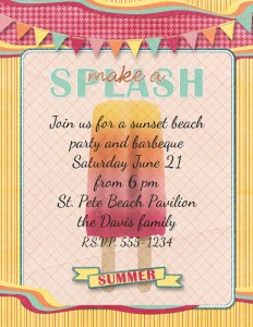 printable beach invite