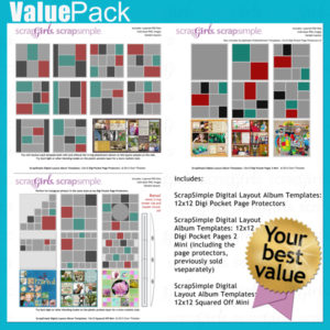 Value Pack: Digital Pocket Page Protectors