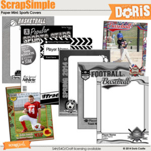 ScrapSimple Paper Templates - Sports Covers