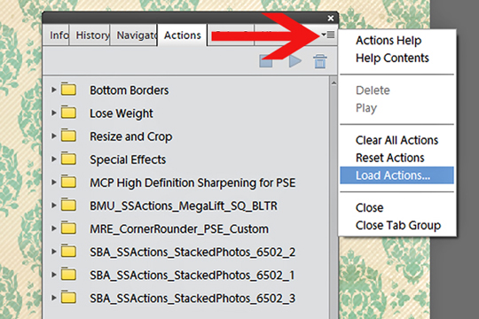 load actions PSE 11