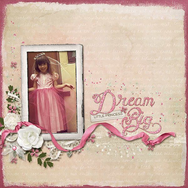 A digital scrapbooking layout created with Photoshop