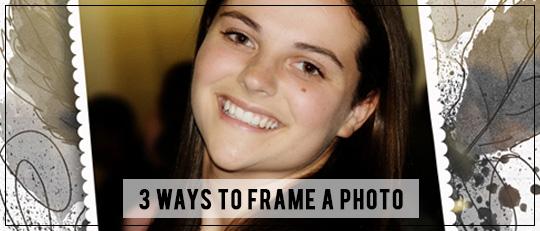3 Ways to Frame A Photo