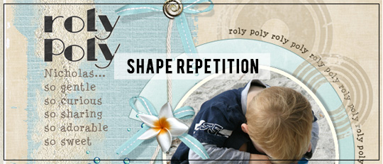 Shape Repetition for More Engaging  Layouts