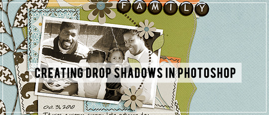 Creating Drop Shadows in Photoshop