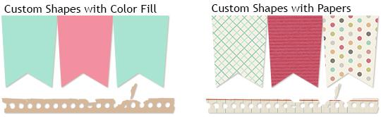 Example of ScrapSimple Tools: Custom Shapes
