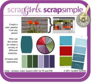 ScrapSimple Actions: Color Swatch