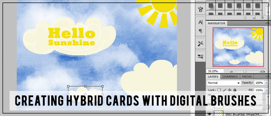 Creating Hybrid Cards with Digital Brushes