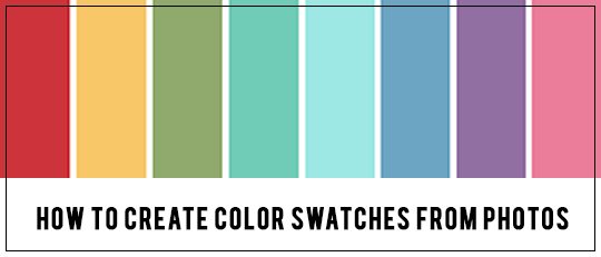 How to Create Color Swatches from Photos!