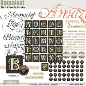 Botanical Word Art