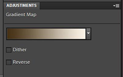 The Gradient map window