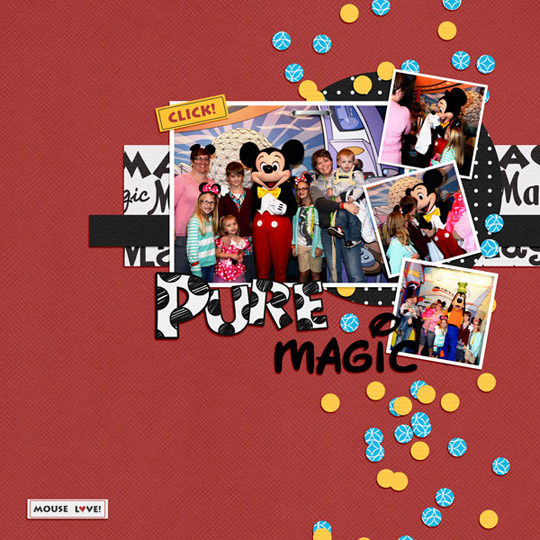 An example of an album page using a layout template