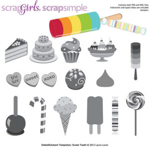 ScrapSimple Embellishments Sweet Tooth