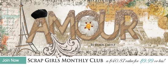 Scrap Girls Club Exclusive: Amour