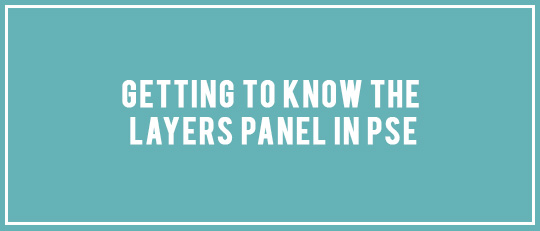 Getting to Know the Layers Panel in PSE