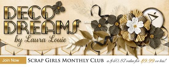 Scrap Girls Club Exclusive: Deco Dreams