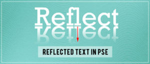 Reflected Text in Photoshop Elements