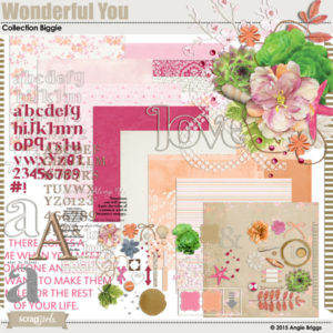Wonderful You digital scrapbooking kit