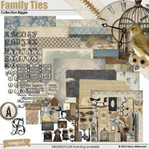 Family Ties digital scrapbooking kit
