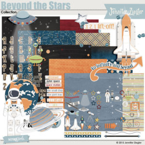 Beyond the Stars digital scrapbooking kit