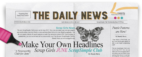 Scrap Girls SS Club Exclusive: The Daily News