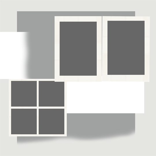 An example of a layout template where the number of photos is changed.