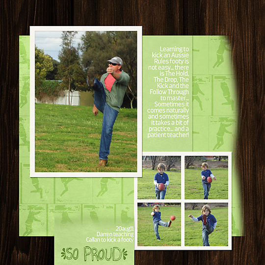 A layout featuring a customized digital layout template