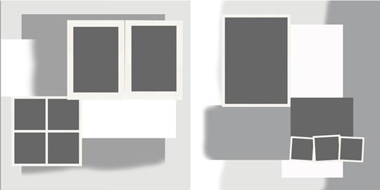 More layout templates customized by rotating and flipping