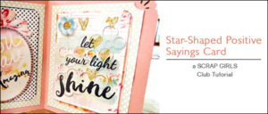 Star Shaped Positive Saying Cards
