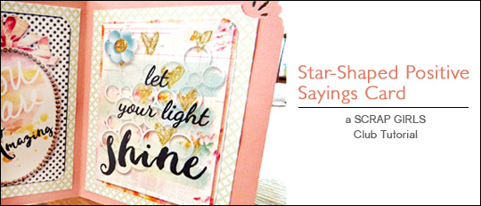 Star-Shaped Positive Sayings Card
