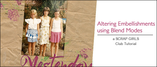 Altering Embellishments using Blend Modes