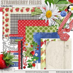 Strawberry Fields digital scrapbooking kit