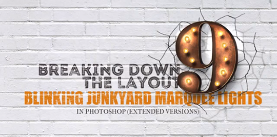 Blinking Junkyard Marquee Lights