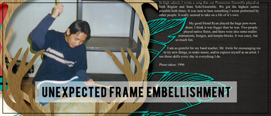 Unexpected Frame Embellishment