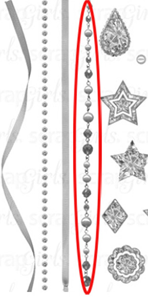 Example of an embellishment template to color using layer masks.
