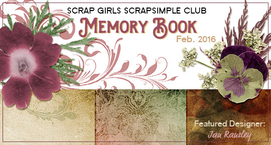 Scrap Girls SS Club Exclusive: Memory Book