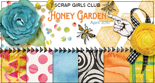 Scrap Girls Club Exclusive: Honey Garden