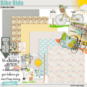 Bike Ride mini digital scrapbooking kit