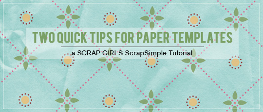 Two Quick Tips for Paper Templates