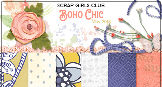 Scrap Girls Club Exclusive: Boho Chic