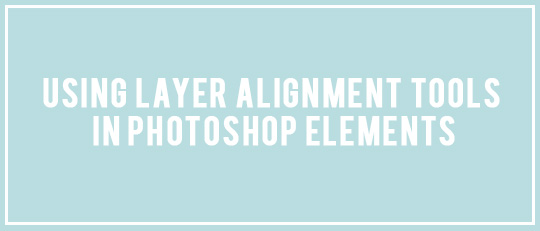 Using Layer Alignment Tools in Photoshop Elements