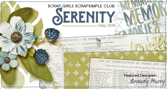 Scrap Girls SS Club Exclusive: Serenity