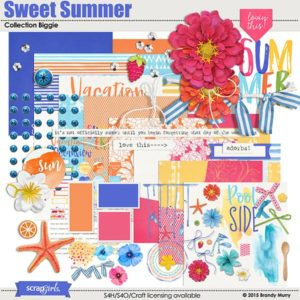 Sweet Summer Digital Scrapbooking kit