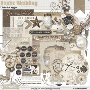 Rustic Wedding digital scrapbooking kit