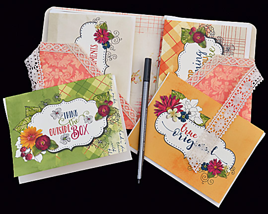 Sample of all occasion card sets made with Creative Spirit Collection