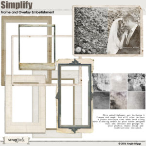Simply digital scrapbooking frames