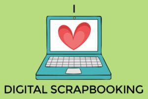 I love digital scrapbooking badge