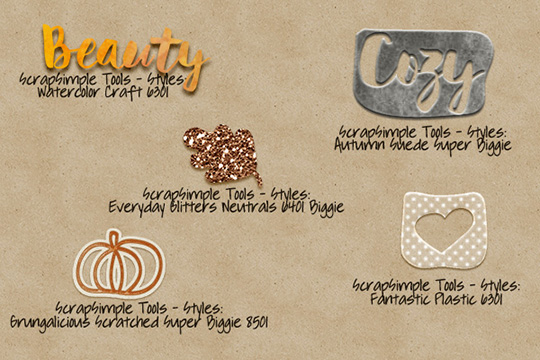 Examples of ways to color word tags for fall