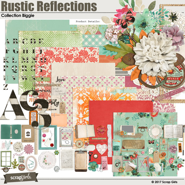 Rustic Reflections Free Digital Scrapbooking Kit