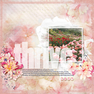Thrive Word of the Year Layout